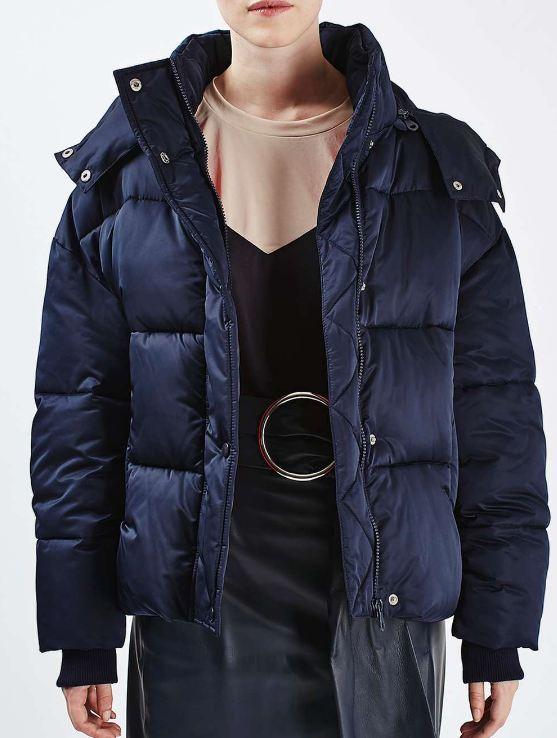 navy topshop jacket