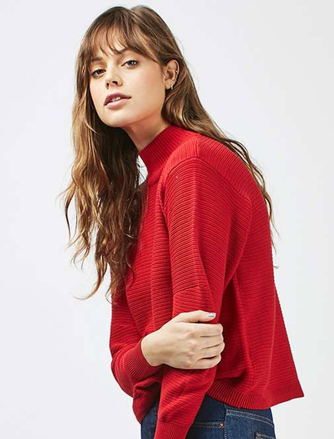 topshop sweater red