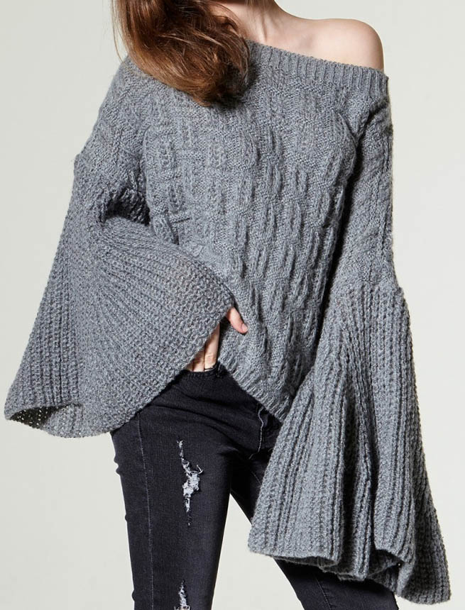 stores bell cuffs pullover
