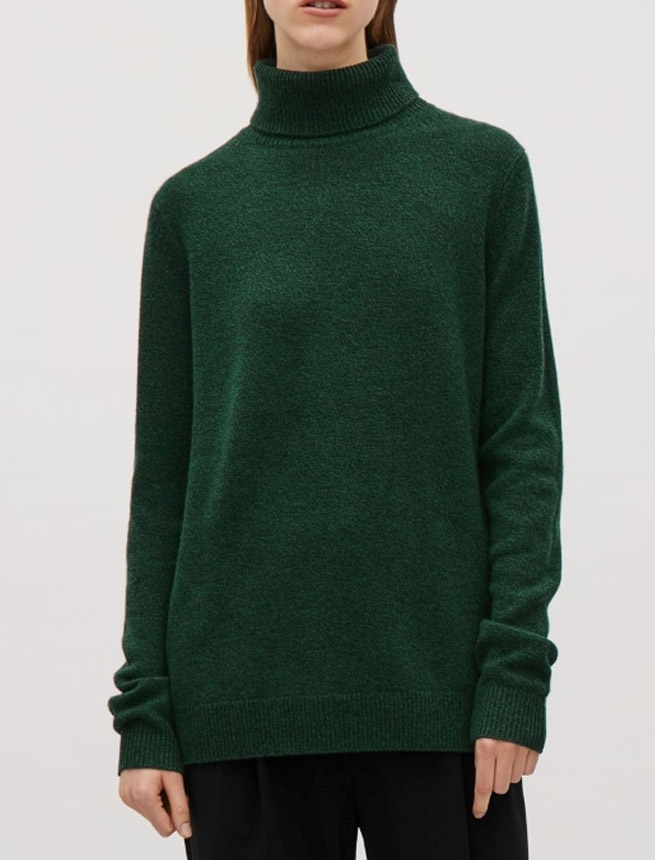cos sweater ugly green