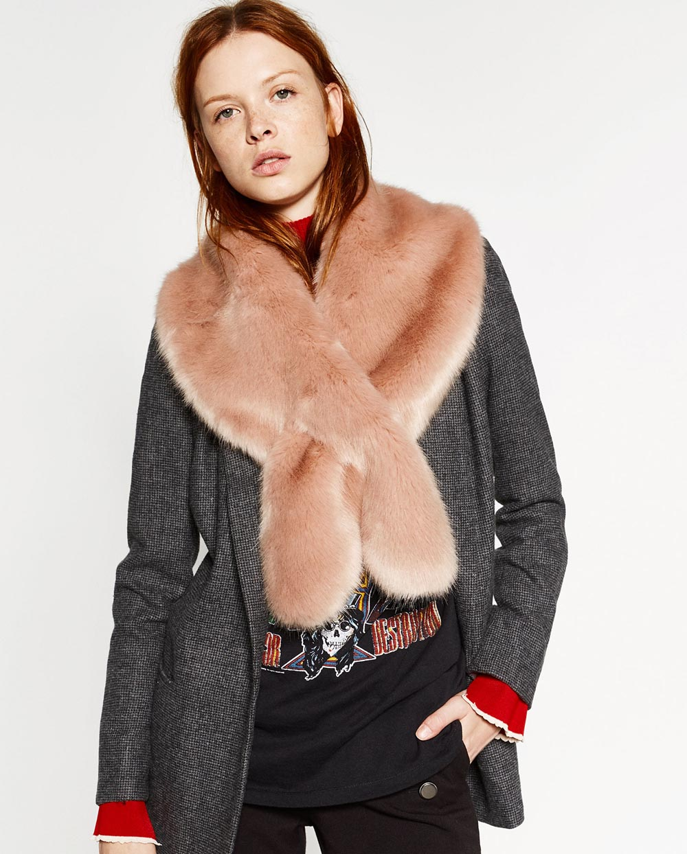fur scarf zara