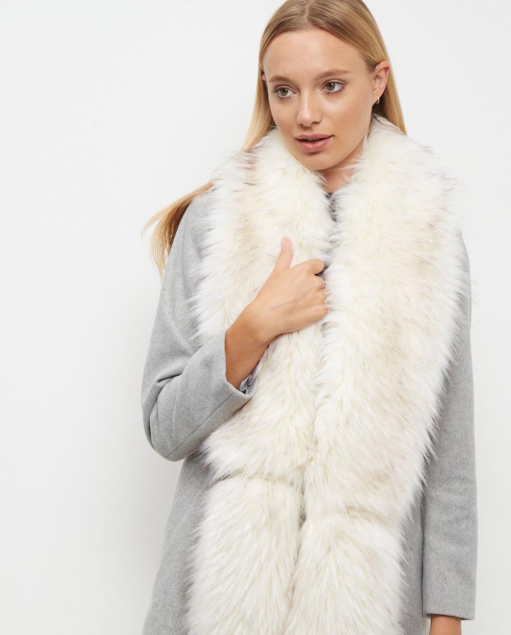new look fur scarf