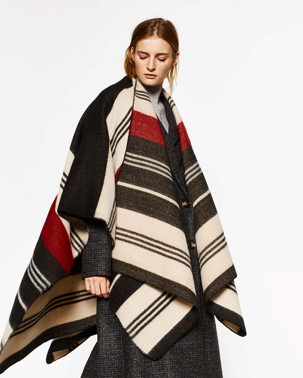 poncho winter style