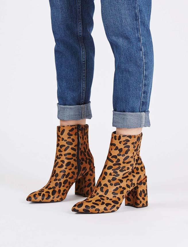 topshop leopard boots